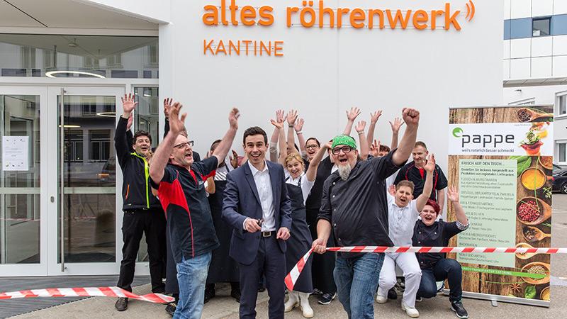 Kantinen Eröffnung Altes Röhrenwerk